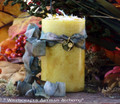 "OLD WORLD DANDELION 24K Gold Plated Charmed ""Old European Witchcraft"" Pillar Candle"