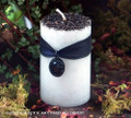 "BLACK CRYSTAL ""Old European Witchcraft"" Scrying Pillar Candle"