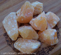 ORANGE CALCITE Rough Natural Specimens