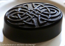 CELTIC WITCH Jet Black Celtic Knot Olive Oil Soap