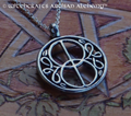 VESICA PISCIS Glastonbury Chalice Well Amulet Pendant Necklace