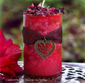 Love Spell WITCHES HEART Pillar Candle