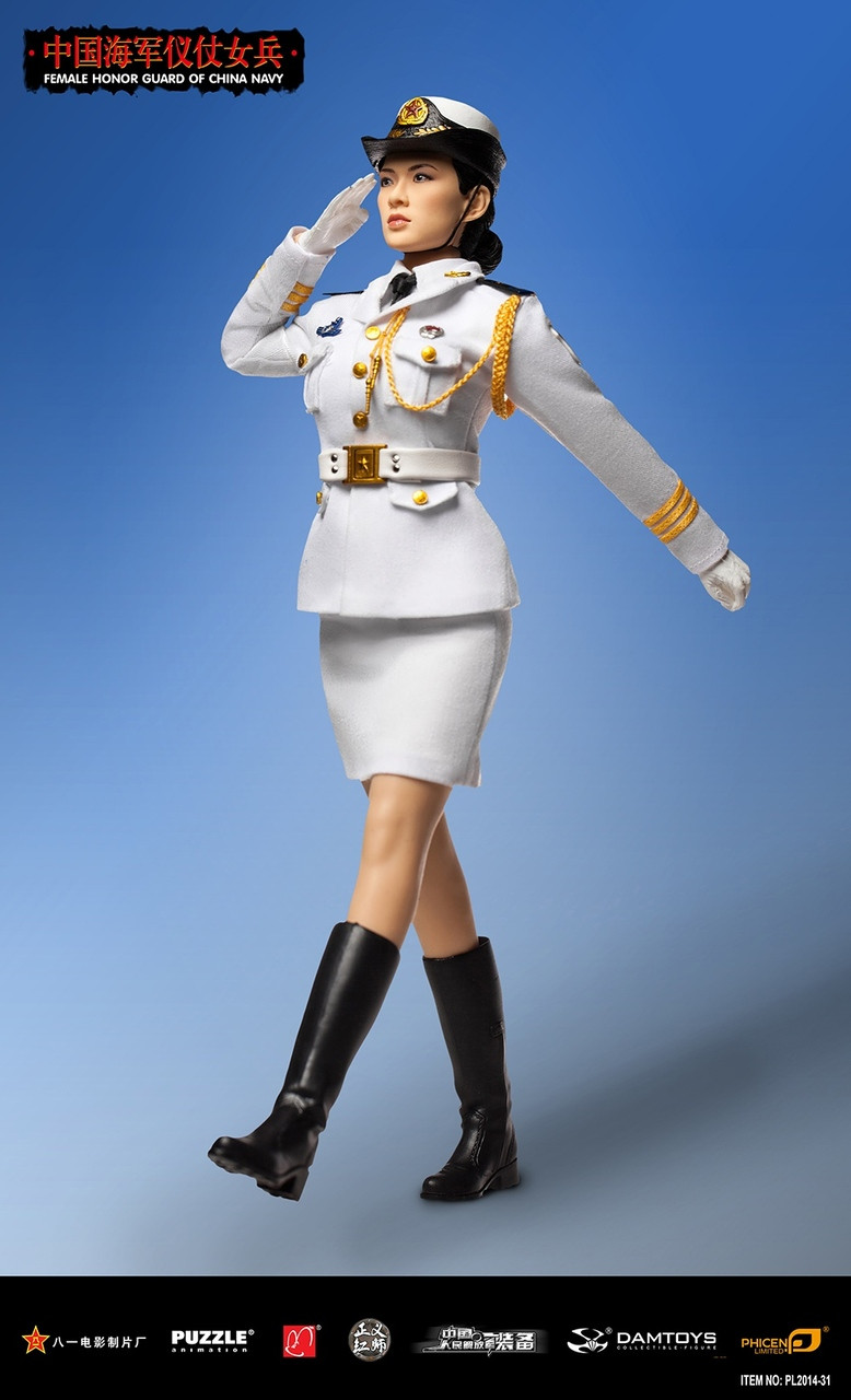 Pl 2014 31 Phicen Limited Female Honor Guard From China Navy 16 1 6 Scale Figure Boxed Set