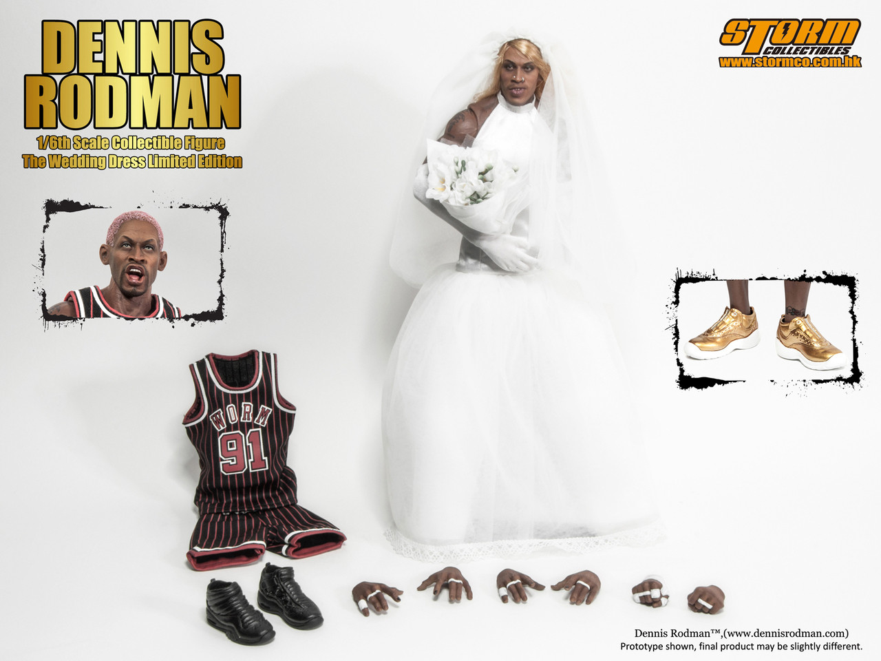 """Storm Collectables I m Dennis Rodman """"The Wedding Dress"""" Special Edition (Limited  500pcs Worldwide) Collectible Figure cbe4aa2d36b0"""