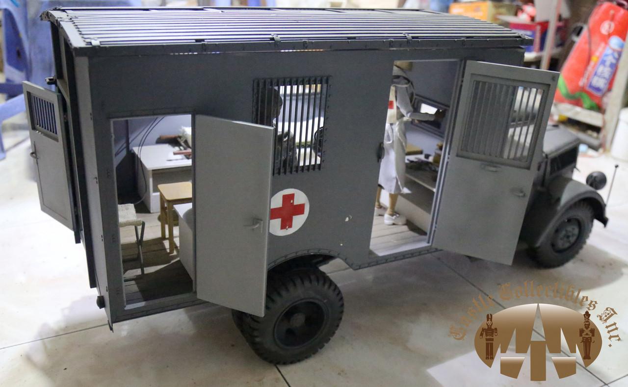 Tm 1507 toy model 1 6 scale metal opel blitz ambulance track in panzer gray ekia hobbies - Ekia furniture ...