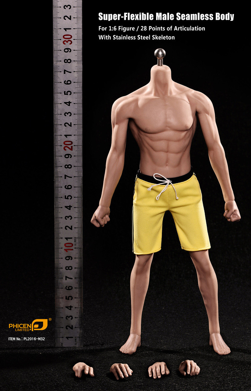 1//6 Phicen Super Flexible Male Seamless Body Steel Skeleton PL2016-M33 TBLeague