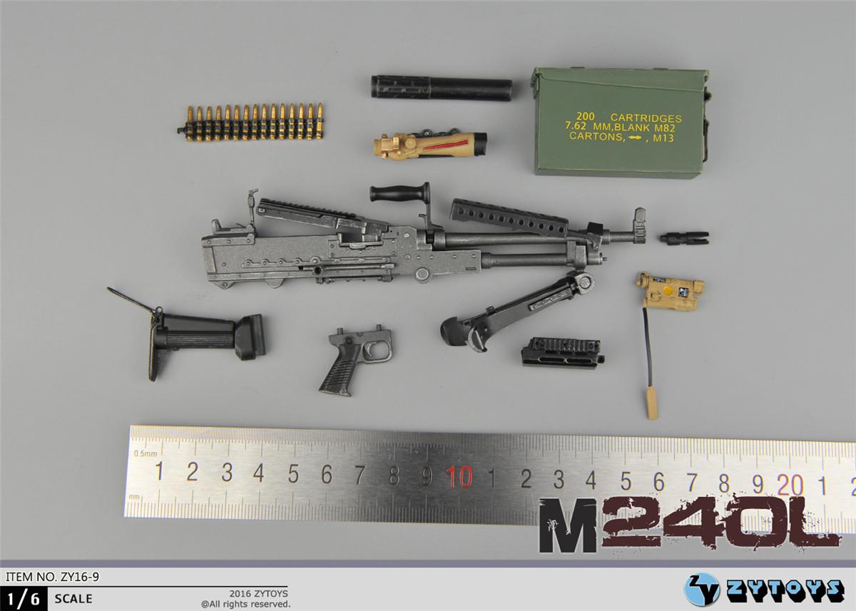 M240l Machine Gun [ZY-16-9] ZY TOYS M240...