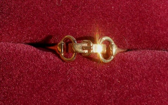14K Tiny Bit Ring by Quaker Ridge