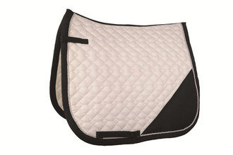 HKM Print Dressage Pad in White w/Blk Trim