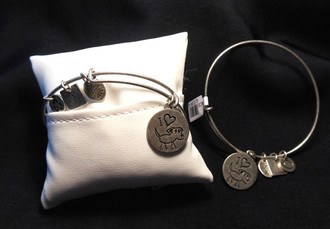Bow River Pewter Bangle w/Doggie Charms