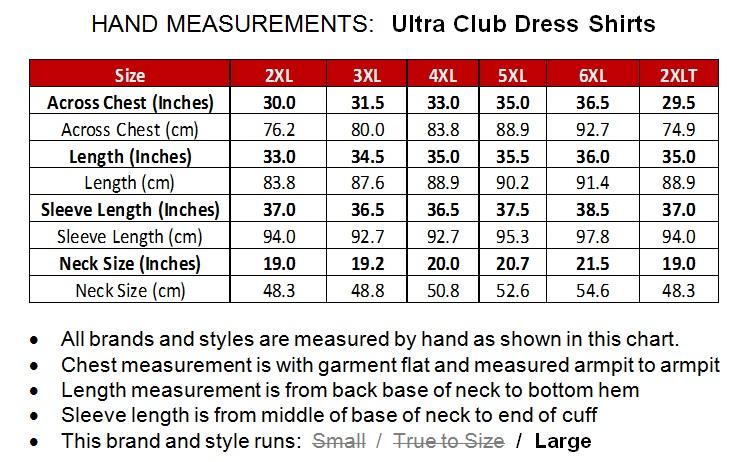 Big Men's Dress Shirt by Ultra Club