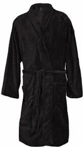 Big Men's Foxfire Plush Robe BLACK Dual Size 3XL-4XL #238