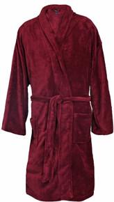 Big Men's Foxfire Plush Robe BURGUNDY Dual Size 3XL-4XL #239