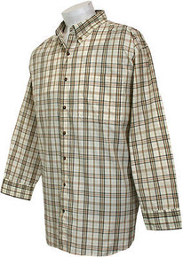 Brown-Black Long Sleeve Plaid Shirt by Casual Country 3XL #255