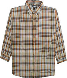 Multi-Color Long Sleeve Plaid Shirt by Casual Country 3XL #565