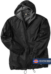 black big man's nylon hooded jacket