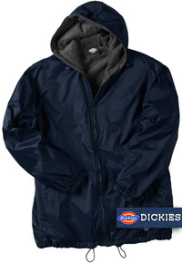 navy blue big man's nylon hooded jacket