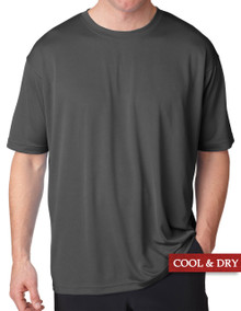 UltraClub Cool-n-Dry Performance T-Shirt Charcoal 3XL 4XL #1188
