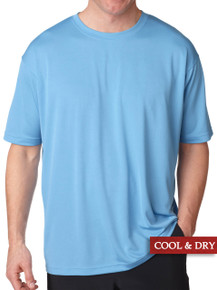 UltraClub Cool-n-Dry Performance T-Shirt Light Blue 3XL - 5XL #1189