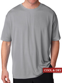 UltraClub Cool-n-Dry Performance T-Shirt Gray 3XL - 6XL #1190
