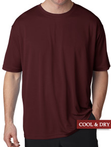 UltraClub Cool-n-Dry Performance T-Shirt Burgundy 3XL - 5XL #1191