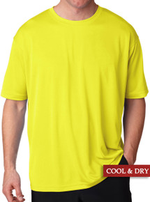 UltraClub Cool-n-Dry Performance T-Shirt Bright Yellow 5XL #1197