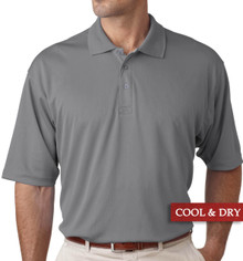 Big & Tall Men's UltraClub Cool-n-Dry Polo Gray, Full Image