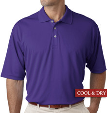Big & Tall Men's UltraClub Cool-n-Dry Polo Purple, Full Image