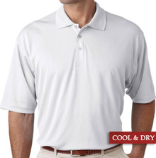 Big & Tall Men's UltraClub Cool-n-Dry Polo White, Full Image