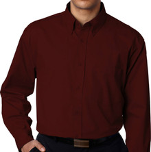 Big & Tall Men's UltraClub Dress Shirt, Burgundy,