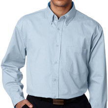 Big & Tall Men's UltraClub Dress Shirt, Light Blue, Full image
