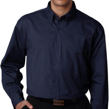 Big & Tall Men's UltraClub Dress Shirt, Navy,