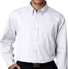 Big & Tall Men's UltraClub Dress Shirt, White, Full Image