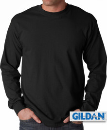 Gildan Cotton Long Sleeve T-Shirt 3XL4XL 5XL Black #419