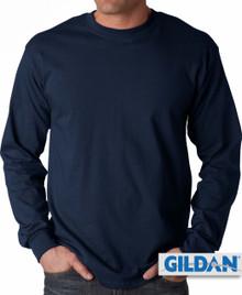 Gildan Cotton Long Sleeve T-Shirt 3XL4XL 5XL Navy #422