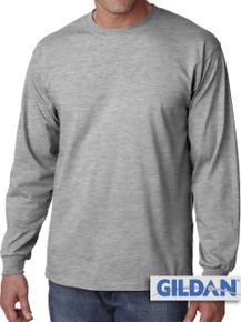 Gildan Cotton Long Sleeve T-Shirt 3XL4XL 5XL Gray #424