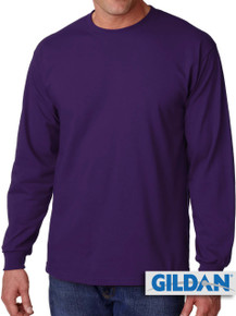 Gildan Cotton Long Sleeve T-Shirt 3XL4XL 5XL Purple #429
