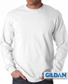 Gildan Cotton Long Sleeve T-Shirt 3XL4XL 5XL White #432