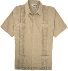 big guy clothes Guayabera Khaki 7X