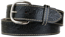 big men's western belt removable buckle
