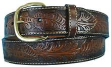 big men's leather western belt