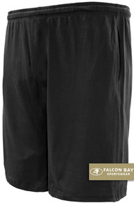 Black Falcon Bay Cotton Jersey Shorts