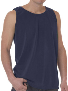 greystone navy tank top for big men