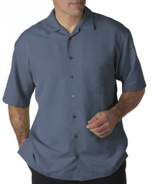 Big Men's UltraClub Cabana Casual Shirt, Blue, Full Image