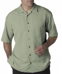 Big Men's UltraClub Cabana Casual Shirt, Sage, Full Image