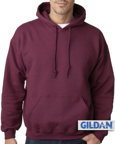 Big Men's Basic Burgundy Pullover Hoodie by Gildan