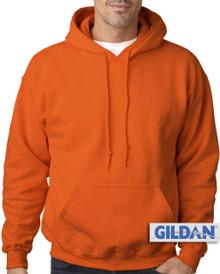 Big Men's Gildan Pullover Hoodie Orange 3XL #374