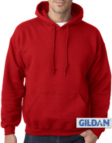 Gildan Pullover Hoodie Red 4XL #482