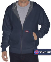 navy blue zip hoodie with warm thermal lining