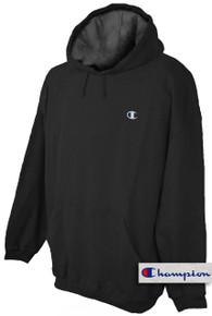Champion Pullover Hoodie Sweatshirt Black 5XL #691A